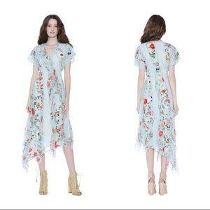 Alice Olivia Silk Floral Printed Dress!Best Deal!